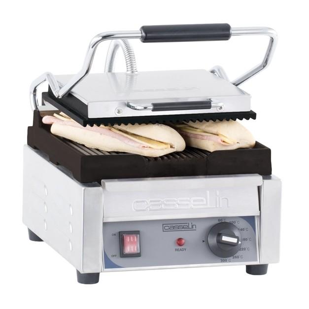 Grill panini lectrique professionnel petit premium rainur e rainur e casselin - Grill electrique professionnel ...