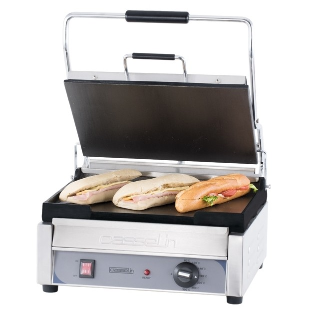 grill panini professionnel grand premium lisse lisse casselin. Black Bedroom Furniture Sets. Home Design Ideas