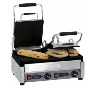 grill panini lectrique professionnel double premium lisse. Black Bedroom Furniture Sets. Home Design Ideas