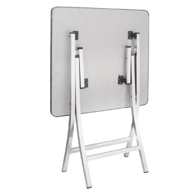 Table carr pliante en aluminium bolero for Table carree exterieur aluminium