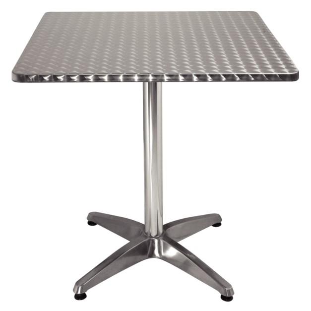 Table pour bistro carr e tout en aluminium for Table carree exterieur aluminium