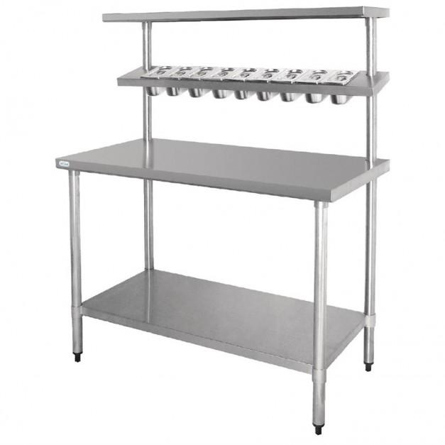 Table de pr paration en inox 1200 ou 1800 mm for Table inox de cuisine