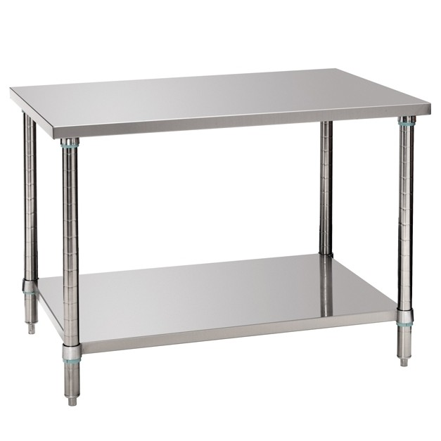 Table de travaille economique en inox bartscher 1000 ou for Table de cuisine inox