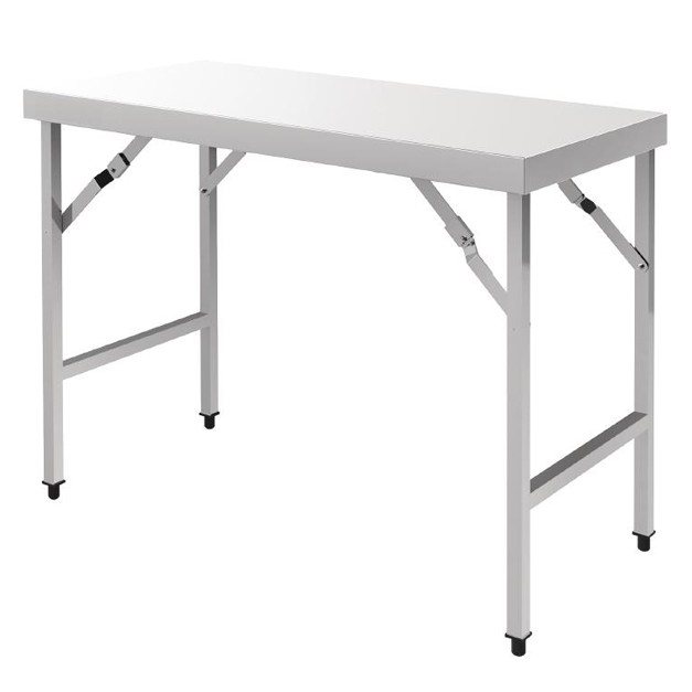 Table pliante en inox vogue 1200 ou 1800 mm for Table de travail de cuisine