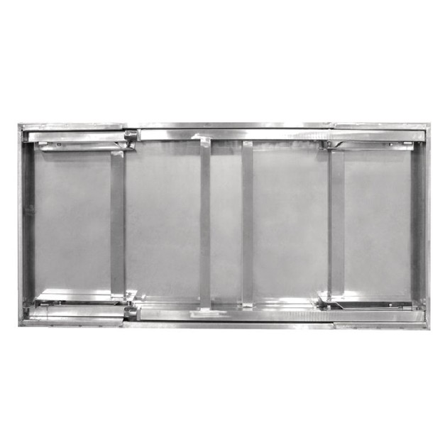 Table pliante en inox vogue 1200 ou 1800 mm for Table de cuisine inox