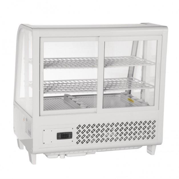 vitrine de comptoir r frig r e 100 litres noir ou blanche polar r frig ration. Black Bedroom Furniture Sets. Home Design Ideas