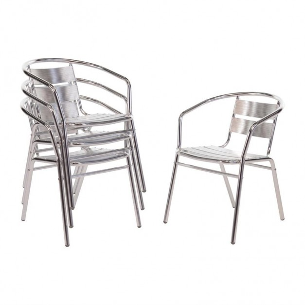 fauteuils en aluminium id als pour l 39 ext rieur sur les terrasses ou patios. Black Bedroom Furniture Sets. Home Design Ideas