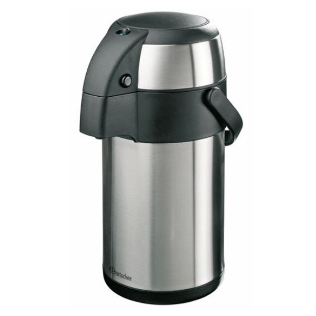 thermos a pompe 2 5 litres en acier inoxydable. Black Bedroom Furniture Sets. Home Design Ideas