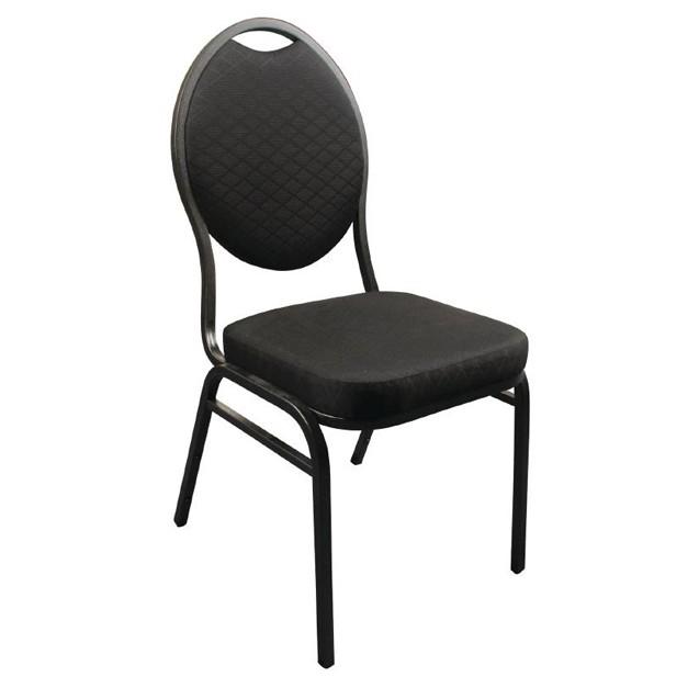 Lot de 4 chaises de banquet en tissu noir for Chaise en tissu noir