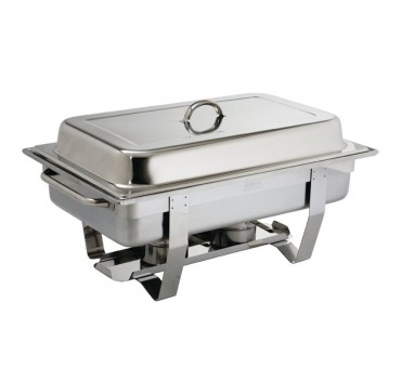Chafing dish gn 1/1 inox complet avec 2 bruleurs