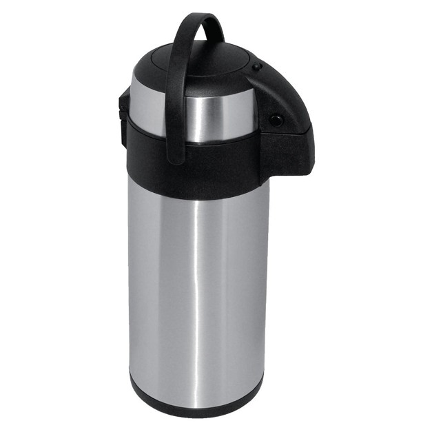 thermos a pompe 5 litres en inox avec doubles parois. Black Bedroom Furniture Sets. Home Design Ideas