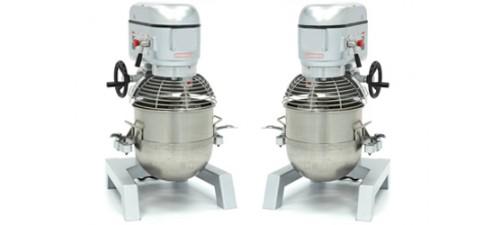 Batteurs mélangeurs pétrin mixeurs professionnels 40 à 100 litres pour la grande distribution.