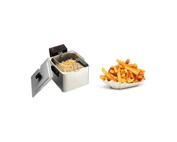 Friteuses électriques professionnelles de comptoir simple bac