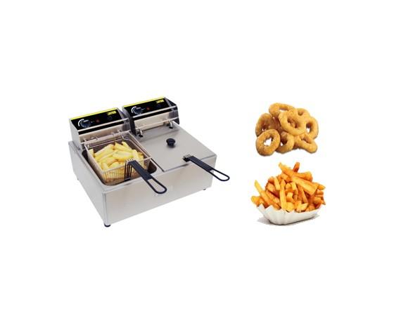 Friteuses électriques professionnelles de comptoirs double bacs