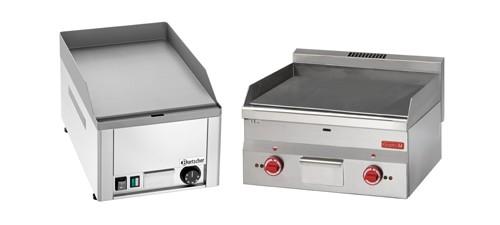 Plaques de cuisson électrique et planchas pour professionnels.