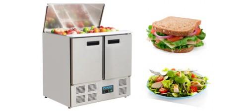 Comptoirs réfrigérés et saladette préparation froide